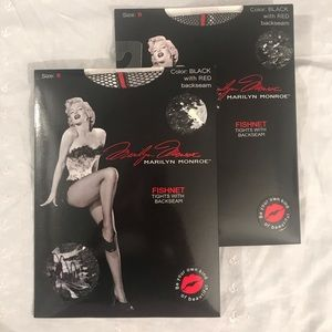 Marilyn Monroe fish net tights size B 2 pair